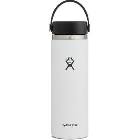 Hydro Flask Wide Mouth Bidón con Tapa Flex 591ml, blanco